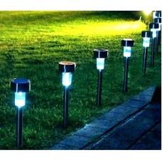 LED ηλιακές λάμπες κήπου 10 τεμάχια