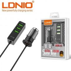 Combo γρήγορος φορτιστής αυτοκινήτου 4 USB LDNIO C61