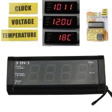 3σε1 ψηφιακό ρολόι, βολτόμετρο, θερμόμετρο αυτοκινήτου WF-518
