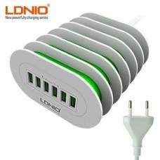 LDNIO Φορτιστής συσκευών A6702,   6 USB, 7A