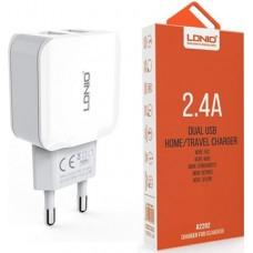 LDNIO φορτιστής τοίχου 2.4 A με 2 θύρες USB A2202