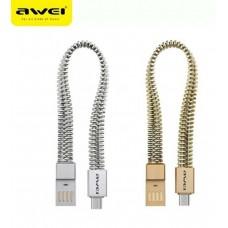 AWEI  Βραχιόλι καλώδιο δεδομένων USB για Αndroid  CL-86 - Gold