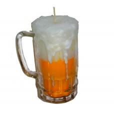 Χειροποίητο κερί Μπύρα σε ποτήρι