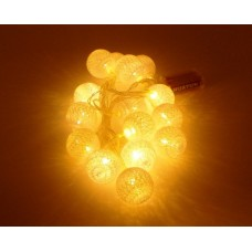 15 Φωτιζόμενες λευκές μπαλίτσες μπαταρίας