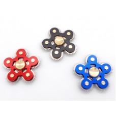 Anti stress hand spinner 6 gears Αγχολυτικό παιχνίδι ανακούφισης στρές με 6 γρανάζια - Blue