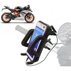 Βάση στήριξης & φορτιστής USB μοτοσυκλέτας για smartphones
