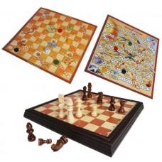 3 επιτραπέζια παιχνίδια σε 1: Σκάκι, Φιδάκι, Περιπέτεια στο Διάστημα
