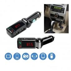 Bluetooth Car Kit + Διπλός USB Φορτιστής 2.1A + MP3 player