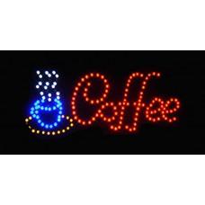 """Φωτιζόμενη πινακίδα με led  """"COFFEE"""""""