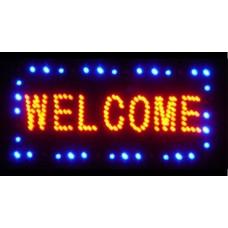 """Φωτιζόμενη πινακίδα με led """"WELCOME"""""""