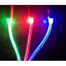 LED φωτιζόμενο καλώδιο φόρτισης & δεδομένων USB 3 σε 1 για όλα τα κινητά