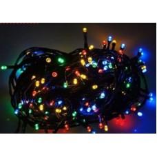 100 φωτάκια LED με μαύρο καλώδιο επεκτεινόμενα