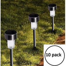 LED ηλιακές λάμπες κήπου αλουμινίου 10 τεμάχια