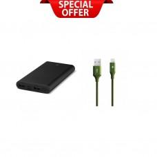 3τεμ Alumislim™ 10.000mAh  +2τεμ AlumiCable™ Lightning free