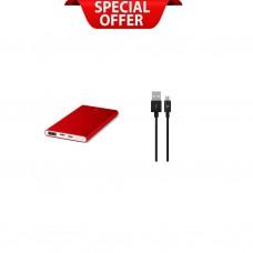 3τεμ Alumislim™ 5.000mAh  + 2τεμ AlumiCable™ Micro Usb Free
