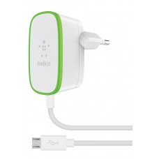 HOME CHARGER with wired Micro-USB cable,12W, 2.4Amp 1.8m,WHT