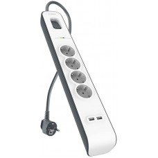 2,4 Amp USB Charging 4-outlet Surge Protection Strip