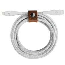 Belkin BOOST↑CHARGE™ USB-C™ Cable with Lightning Connector + Strap (made with DuraTek™ - F8J243bt04