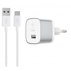 Belkin BOOST↑UP™ Quick Charge™ 3.0 Home Charger with USB-A to USB-C™ Cable-F7U034vf04-SLV