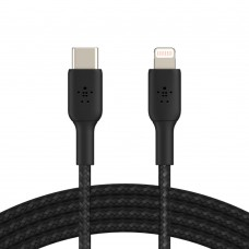 Belkin CAA004bt2MBK Braided USB-C to Lightning Cable (2M)