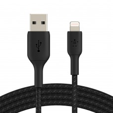 Belkin CAA002bt3MBK Braided Lightning to USB-A Cable (3m)
