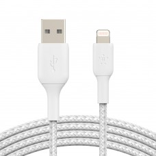 Belkin CAA002bt3MWH Braided Lightning to USB-A Cable (3m)