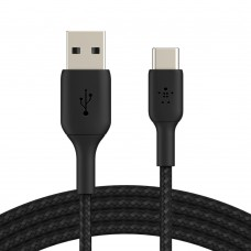 Belkin CAB002bt1MBK Braided USB-C to USB-A Cable (1m)