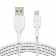Belkin CAB002bt3MWH Braided USB-C to USB-A Cable (3m)