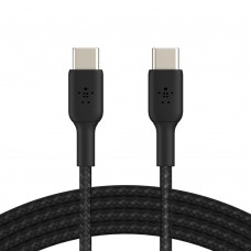 Belkin CAB004bt1MBK Braided USB-C to USB-C Cable (1m)