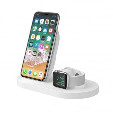 BELKIN BOOST↑UP™ WIRELESS CHARGING DOCK WHITE FOR iPHONE + APPLE WATCH